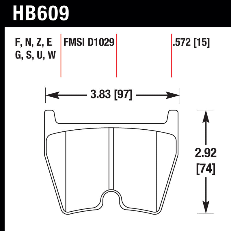 Hawk HB609S.572 Racing Pad - HT-10 Compound