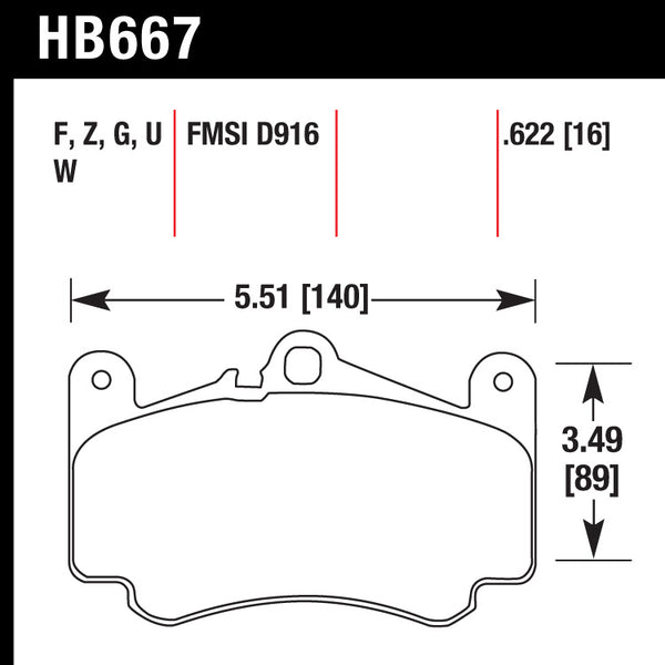 Hawk HB667W.622 Racing Pad - DTC-30 Compound