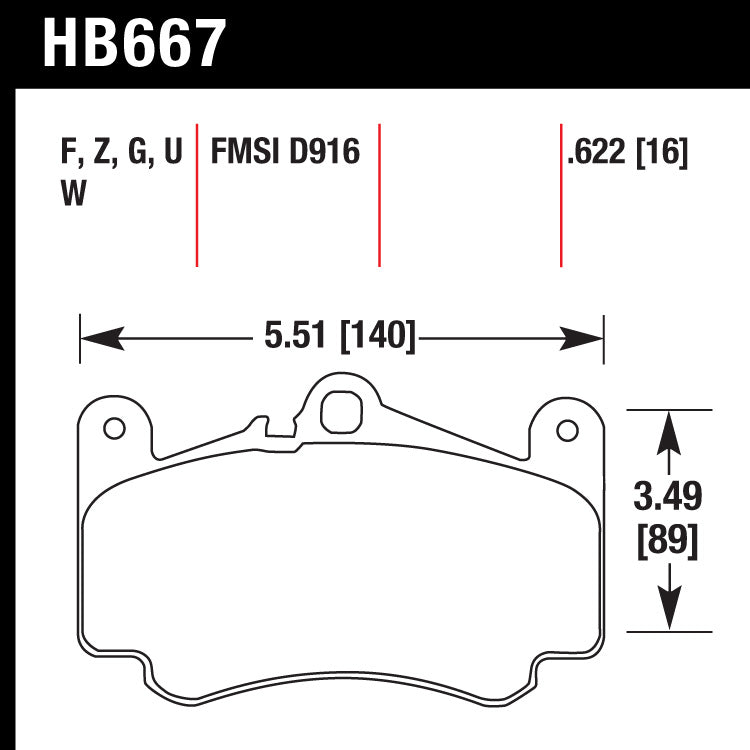 Hawk HB667Z.622 Street Performance Pad - Ceramic Street Pad