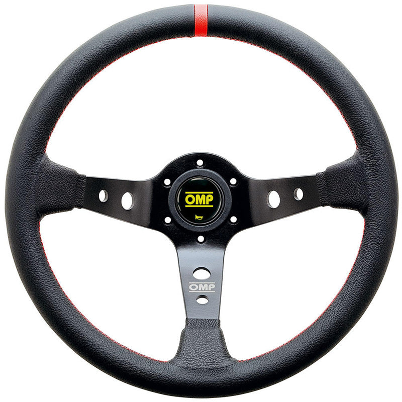 OMP Corsica Steering Wheel - Black Leather