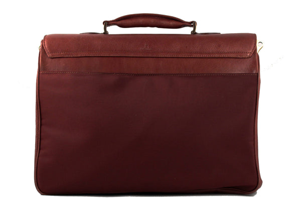 Maruse - Alfonso - leather briefcase back view