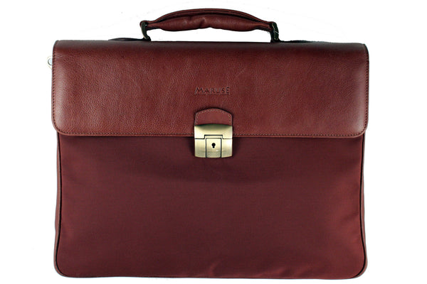 Maruse - Alfonso - leather briefcase front view