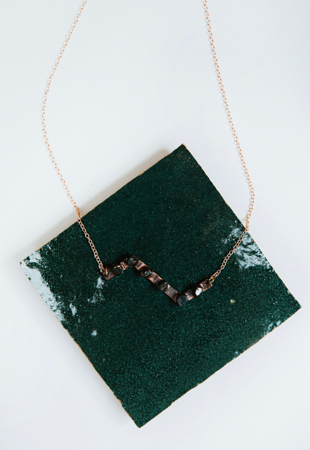 Sapphire Zag Necklace | Burnt Copper - Maverick Objects