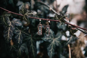 Ladder Earrings | Green Tourmaline - Maverick Objects