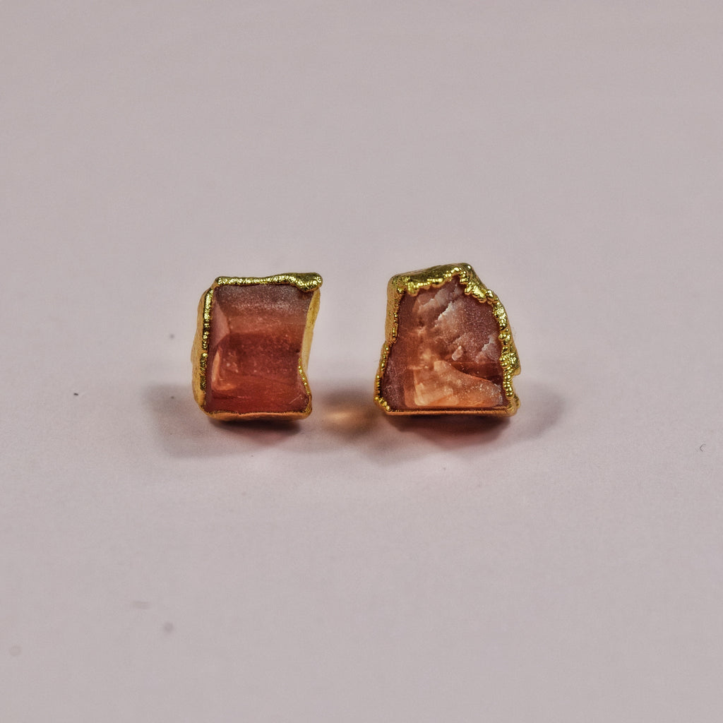 Gold Carnelian Studs - Maverick Objects