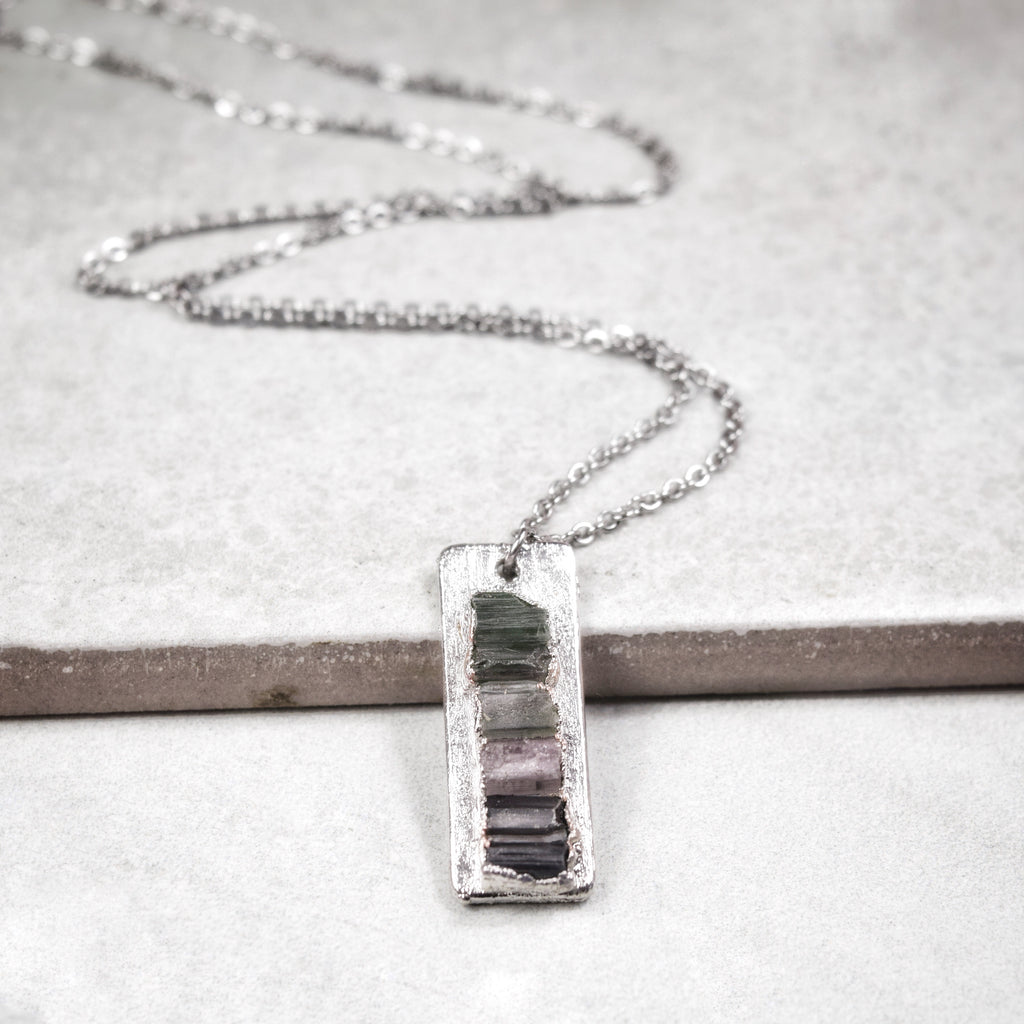 Ladder Necklace | Rhodium - Maverick Objects