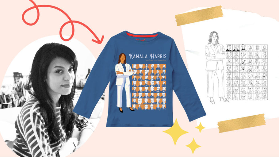 Q&A With Piccolina Artist Shreya Gupta: Introducing Our New Kamala Harris Trailblazer Tee