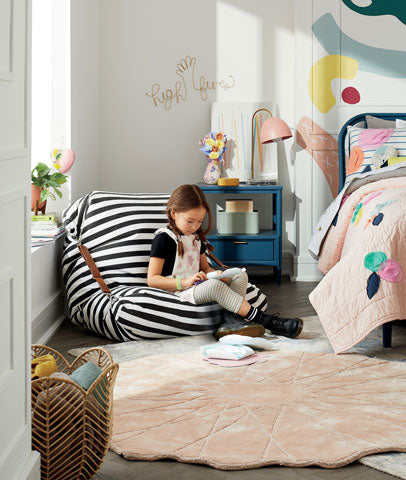 Black and White Stripe Beanbag chair
