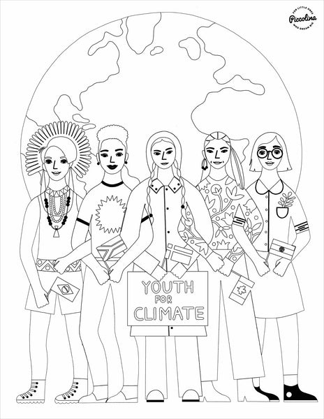 Earth Heroes Coloring Sheet