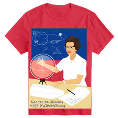 Women's Crewneck Katherine Johnson Short Sleeve Trailblazer Tee