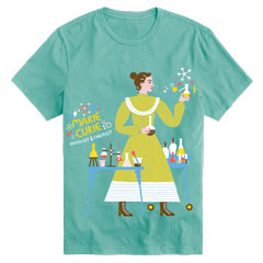 Women's Crewneck Marie Curie Short Sleeve Trailblazer Tee
