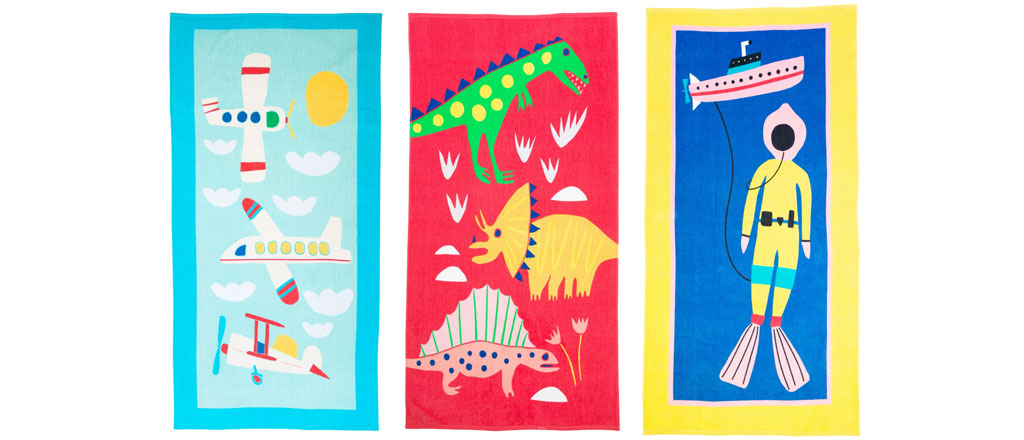Themed Printed Beach Towels