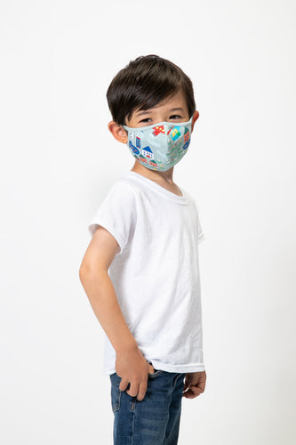 Printed Cotton Face Mask - Aviation