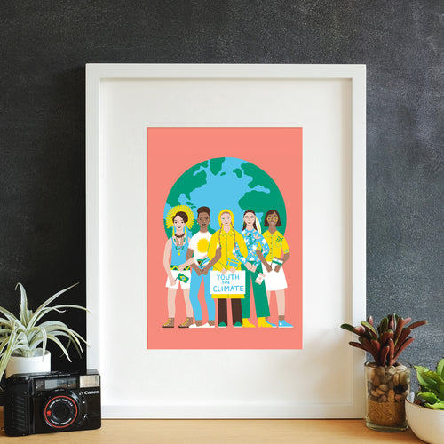 Earth Heroes Framed Art Print