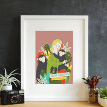 Load image into Gallery viewer, Jane Goodall Framed Art Print