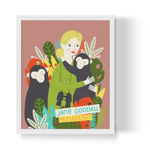 Jane Goodall Unframed Art Print