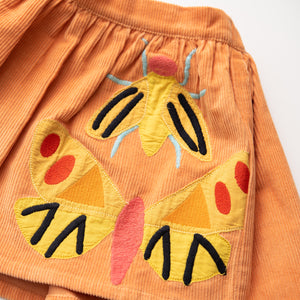 Embroidered Corduroy Skirt - Entomology