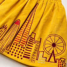 Load image into Gallery viewer, Embroidered Corduroy Skirt - Architecture