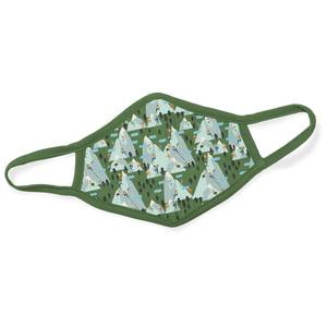 Printed Cotton Face Mask - Mountain Climbing