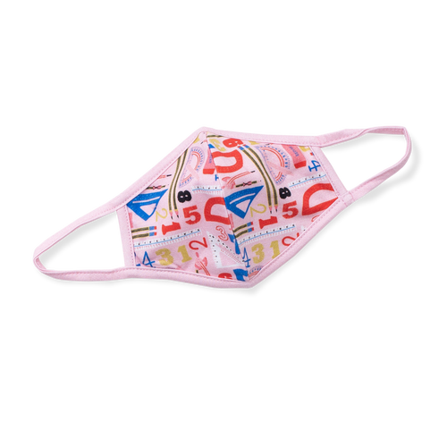 Printed Cotton Face Mask - Geometry