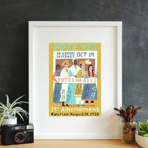Suffrage Heroes Wall Art
