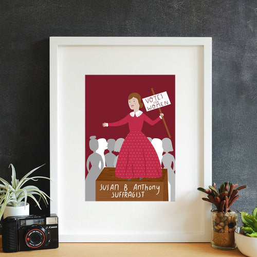Susan B. Anthony Framed Art Print