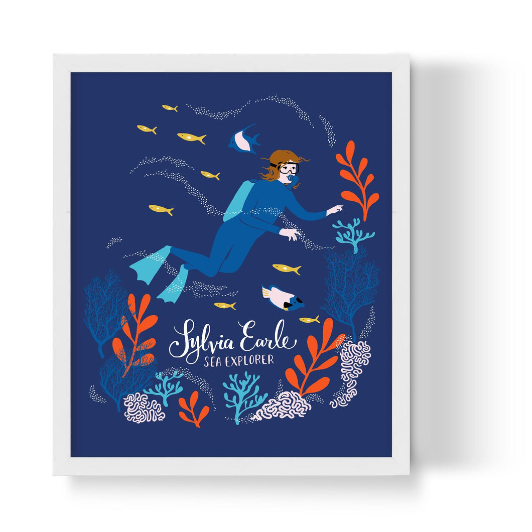 Sylvia Earle Unframed Art Print