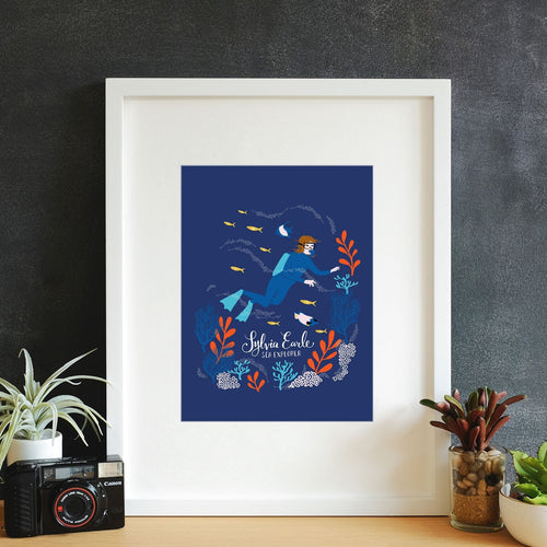 Sylvia Earle Framed Art Print