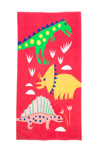 Cotton Printed Beach Towel - Paleontology