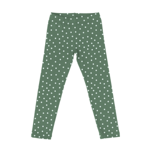 Cotton Printed Leggings - Polka Dot
