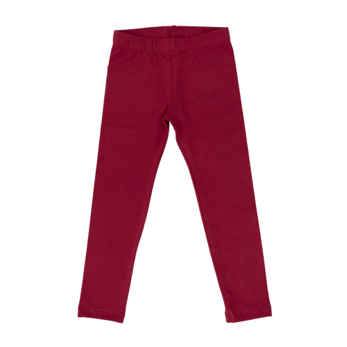 Cotton Leggings - Solid Burgundy