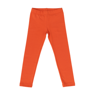 Cotton Leggings - Solid Orange