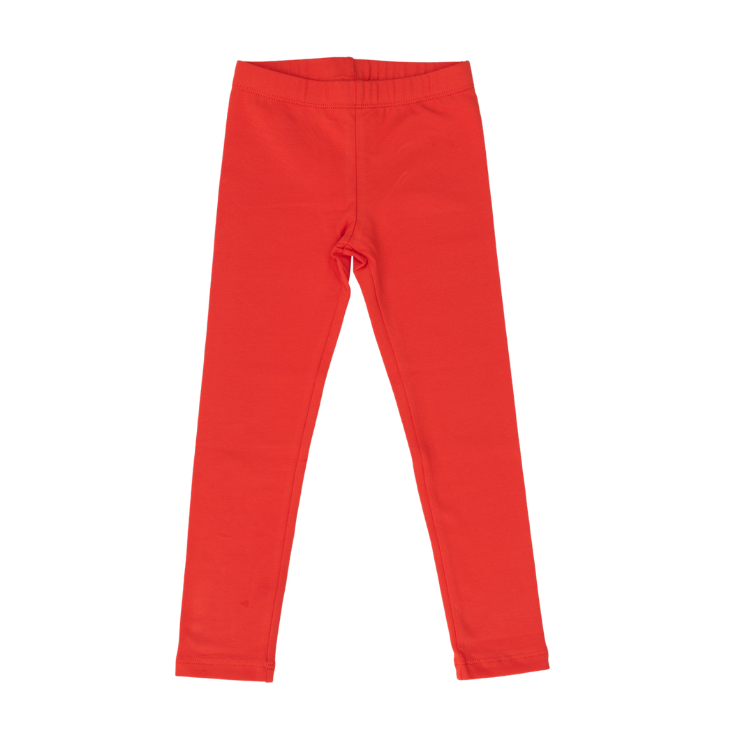 Cotton Leggings - Solid Red