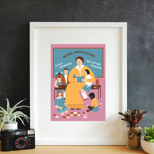 Maria Montessori Wall Art