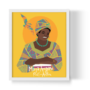 Maya Angelou Unframed Art Print