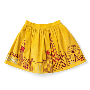 Embroidered Corduroy Skirt - Architecture