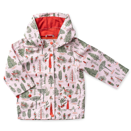Printed Hooded Raincoat - Botany