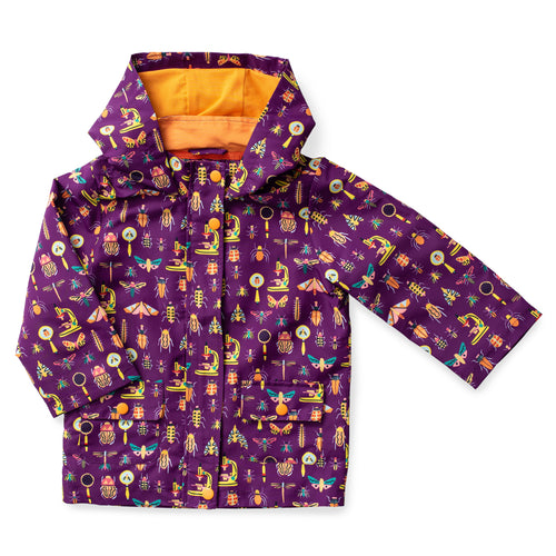 Printed Hooded Raincoat - Entomology
