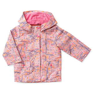 Printed Hooded Raincoat - Circuitry