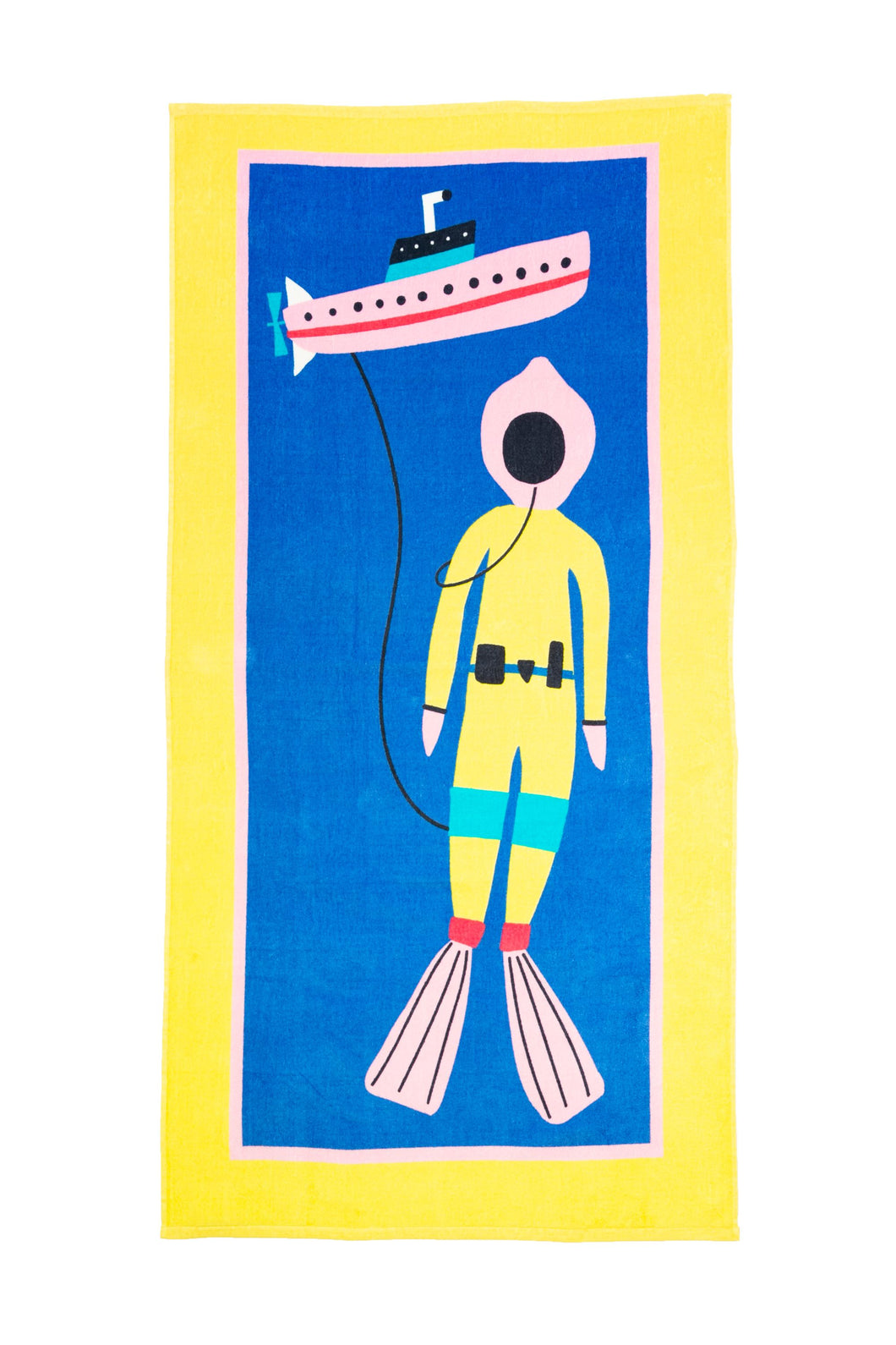 Cotton Printed Beach Towel - Oceanography