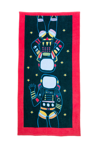 Cotton Printed Beach Towel - Space Exploration