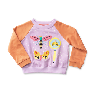 Raglan Applique Sweatshirt - Entomology