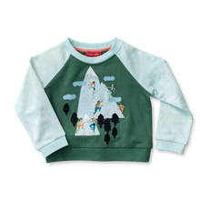 Load image into Gallery viewer, Raglan Applique Sweatshirt - Mountain Climbing