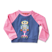 Load image into Gallery viewer, Raglan Applique Sweatshirt - Robotics