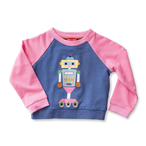Raglan Applique Sweatshirt - Robotics