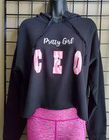 Pretty Girl CEO Crop Hoodie