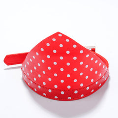 Polka Dots Hankerchief Bandana Dog Leather Collar Terrie Small Red Bowtie Small
