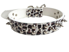 Spiked Studded Rivet Leather Dog Pet Puppy Collar XS S M L Black Red Pink Purple
