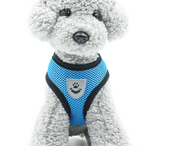 Pet Control SMALL Dog Harness Soft DOUBLE Mesh Walk Collar Safety Strap Vest XS