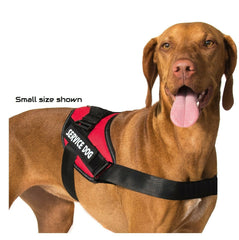 Pair Of SERVICE DOG • EMOTIONAL Velcro Patches Reflective Tag Harness Vest